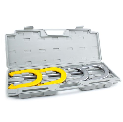 Professional Steel Horseshoe Set with Durable Carrying Case by Brybelly