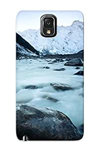 New JmsKXZK1163Vvtap Glacier In New Zealand Tpu Cover Case For Galaxy Note 3 - Best Gift Choice For Christmas