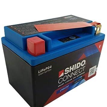Batterie Shido Lithium LTX9 BS YTX9 BS, 12V8AH (Maße