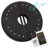 MINGLUN Patio Umbrella Light, 20 LED Outdoor Waterproof Umbrella Lamp Speaker, USB Charging, 4 Lighting Modes, Wireless Speaker Perfect for Garden/Camping/Tent (5volts) - Black