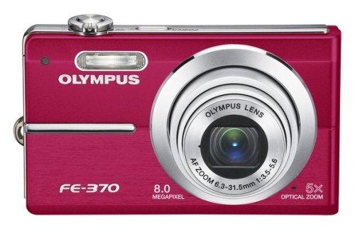 Olympus FE-370 Digital Camera 8MP 5x Opt Zoom 2.7 LCD Red 222510