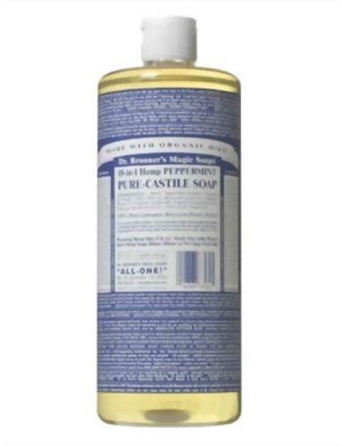 Savons magiques Dr. Bronner Pure-Savon de Castille, 18-en-1 chanvre menthe poivrée, 32 Ounce Bottle