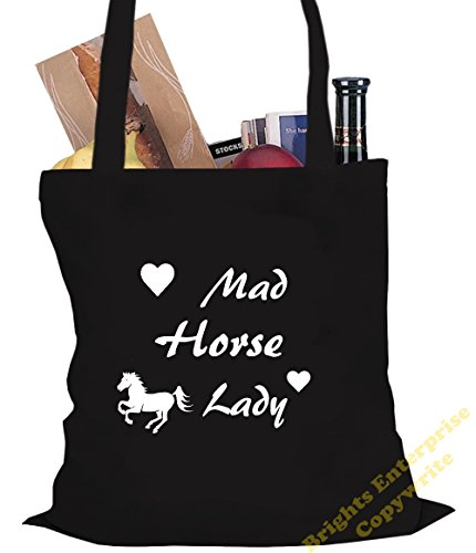 Beach 42 Shopping Horse 10 Lady 25 Crazy x the stocking Gym Birthday An litres 38 range Bag Size from tote unique bag with our Tote Christmas gift idea Black filler wording cm or reuseable original E6azqdw6x