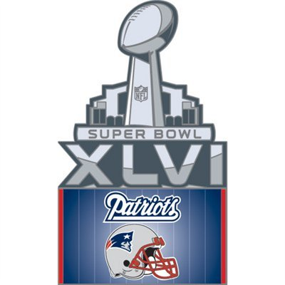 aminco Super Bowl XVLI New England Patriots Participant Pin with Logo