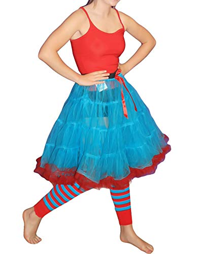 (My Choice Stuff Womens Fancy Dance Party 2 Layer Tu Tu Skirt Ladies Party Wear 23 Inches Bottom One)