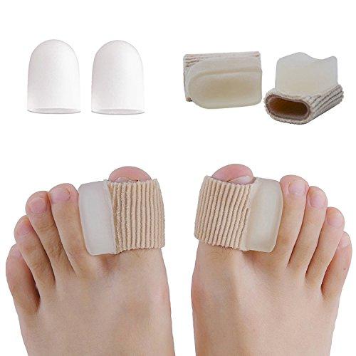 [해외]엄지 젤 패드 부드럽고 섬유질 슬리브 엄지손가락 지지대 발가락 분리기 발가락 보호 캡 / Thumb gel pad soft with fibrous sleeve thumb supporter toes separator toe protection cap