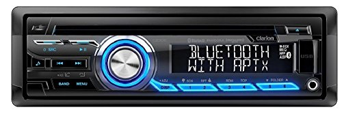 Clarion CZ305 Built-in Bluetooth aptX In-Dash iPod/iPhone/Android CD MP3 AM FM USB AUX Input EQ Car Stereo Player Pandora Control iHeart Radio compatibility Receiver (Certified Refurbished) Clarion Car Stereo