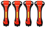 Iron Eagle Vehicle Safety Hammer 4 Pcs - Car Escape Tool Seatbelt Cutter with Light Reflective Tape - Portable Emergency Life-Saving Hammer Tool Glass Window Punch Breaker