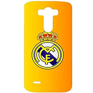 Official Real Madrid Phone Case 3D Plastic Pattern Anti-Scratch Hard Accessories for LG G3 with Real Madrid Logo