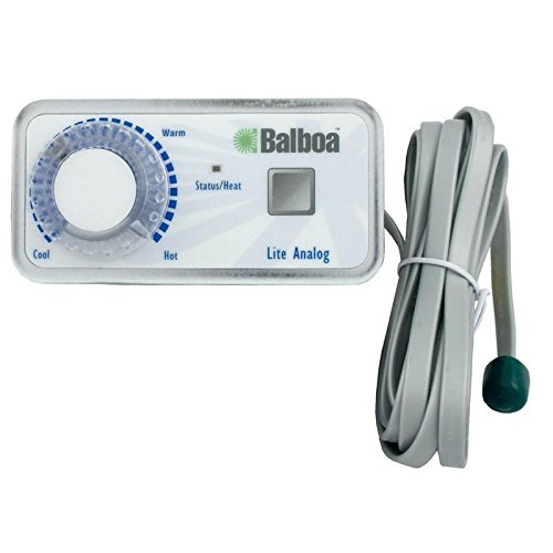 Spa Thermostat - Balboa 51219 Duplex Analog 1-Button Spa Side Control Panel With Thermostat Knob