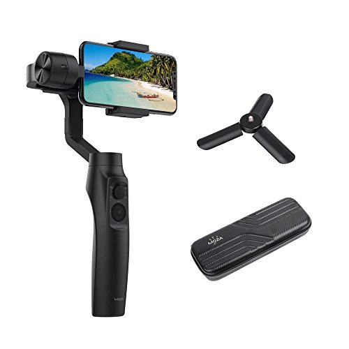 MOZA Mini-MI 3-Axis Gimbal Stabilizer Applicable for Smartphone Wireless Phone Charging Compatible with X 8 7 Plus 6 Plus Galaxy S9 Auto Panoramas, Time-Lapse & Tracking