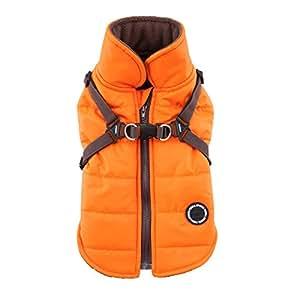 Puppia PAPD-VT1366-OR-M Authentic Mountaineer II Winter Vest, Medium, Orange
