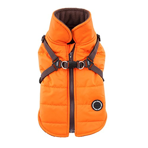 Puppia PAPD-VT1366-OR-L Authentic Mountaineer II Winter Vest, Large, -