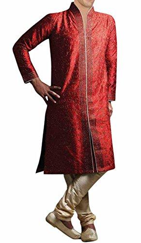 INMONARCH Mens Extremely Stylish Wedding Sherwani SH271 40R Red