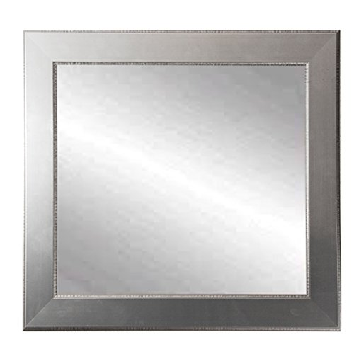 (BrandtWorks BM012SQ Mod Euro Silver Square Wall Mirror, 32 x 32,)