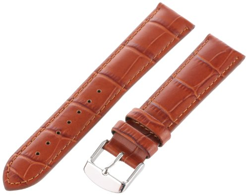 Hadley-Roma Men's MSM898RR-200 20-mm Tan Alligator Grain Leather Watch Strap