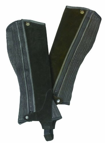 Ovation Half Chap (Ovation - Child Suede Ribbed Half Chaps , Brown , B12-14)