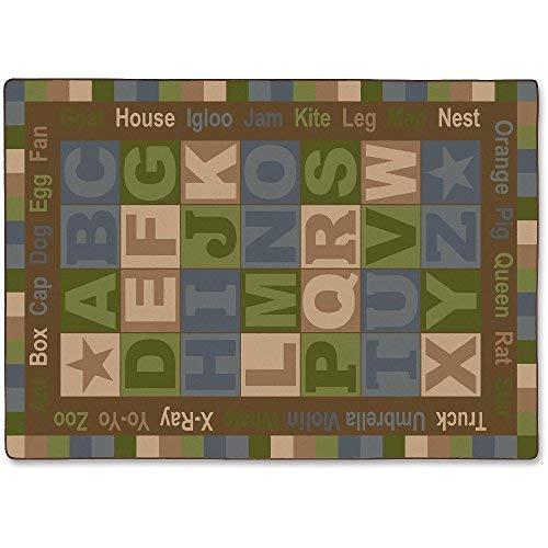Flagship Carpets ABC Tranquility Alphabet Rug - 12 ft Length x 90 Width - Multicolor - Nylon [並行輸入品]   B07J65KSPP