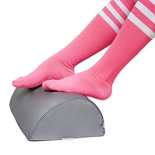 Ergonomic Under Desk Footrest by Vodanx - High Density Medical Grade Memory Foam - Anti-Slip Micro Bead Tread - Ergonomic Design for Comfort and Posture - Designed for Office, Home and Travel