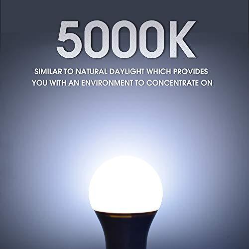 24 Pack A19 LED Light Bulb, 60 Watt Equivalent, Daylight 5000K, E26 Medium Base, Non-Dimmable LED Light Bulb, UL Listed 6