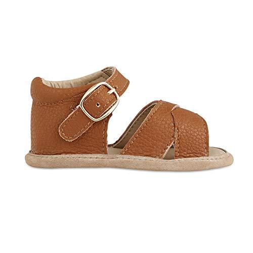 (Babe Basics Baby Sandals   Kids Sandals   Toddler Sandals   Genuine Leather Sandals for Girls (0-6 Months Infant, Tawny))