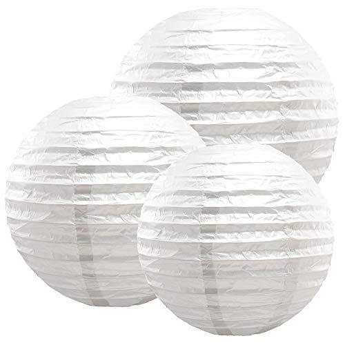 Lumabase 72006 6 Count Multi Size Paper Lanterns, 12