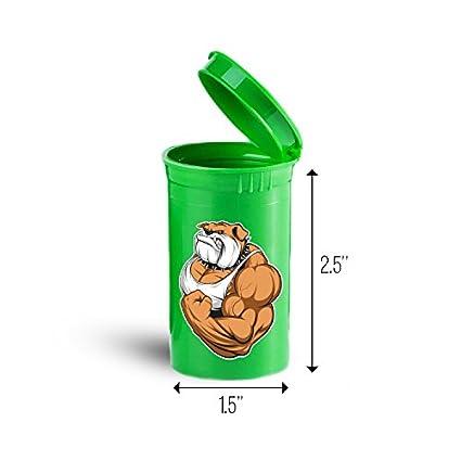 Muscular Bulldog papelera de almacenamiento organizador para vitaminas, suplementos, salud suministros ID 1704 G