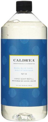 Caldrea Liquid Hand Soap Refill, Basil Blue Sage, 32 Fluid Ounce (Fresh Basil Body Lotion)