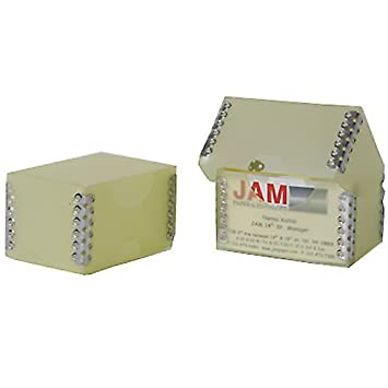 Amazon jam paper plastic business card box with metal edge 2 jam paper plastic business card box with metal edge 2 14 x 3 reheart Images