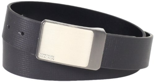 Kenneth Cole REACTION Men's Reversible Cut Edge Belt With Embossed Line Detail