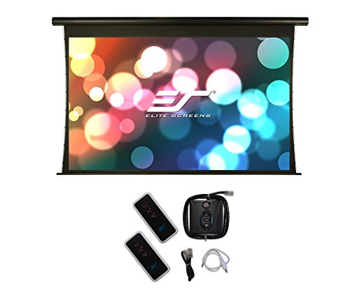 Elite Screens Saker Tab-Tension, 110-inch 16:9, Tensioned Electric Projection Projector Screen, SKT110XHW-E24 Tensioned Projection Screen