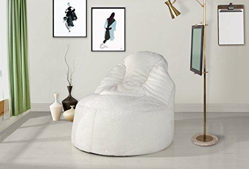 41okzTYGE6L - Divano-Roma-31-inch-Soft-Brush-Microfiber-Bean-Bag-Chair-Gaming-Chair-Beige