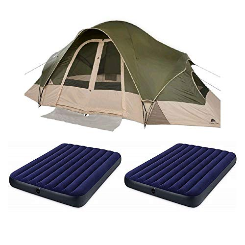 OZARK Trail Family Cabin Tent (Olive/Tan, 8 Person with ()