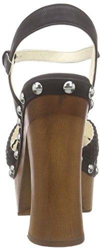 BUFFALO 315-3546 Nubuck Pu - Sandalias de Plataforma Mujer Schwarz (Black 01)