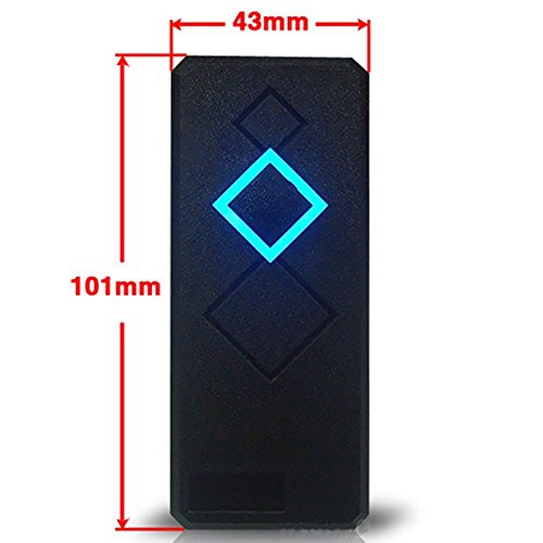 Slim Mini Size Waterproof Wiegand 26/34 125KHz EM RFID Reader For Door Access Control Proximity RFID Reader Black Color by RFID-SECURITY