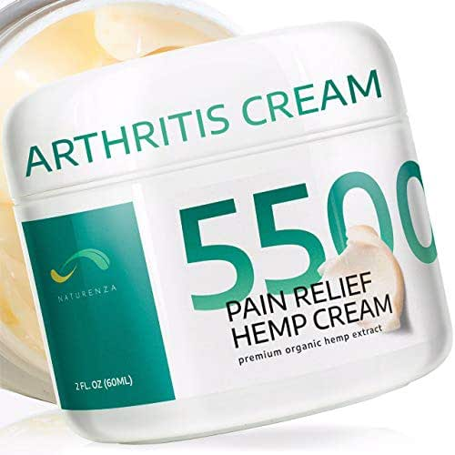 Hemp Pain Relief Cream - Arthritis, Inflammation and Pain Relief in Joint, Back, Neck, Shoulder, Hand, Arm, Foot and Knee - Chronic Pain Remedy - Vegetarian-Friendly - Naturenza