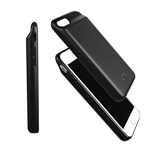 AMZ Original Battery Case 5000mAh Portable Charging Case Rechargeable Extended Battery Park for Apple iPhone 6/6s/7/8(4.7') Protective Charger Case Backup Power Bank Cover (Black) 2