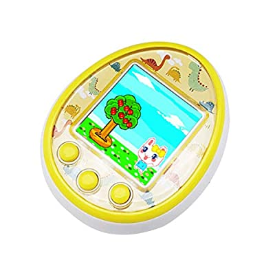 EAPTS Mini Electronic Pets Toys 8 Pets in 1 Virtual Cyber USB Charging Micro Chat Pet Toy for Kids Adults Gift (Yellow): Toys & Games
