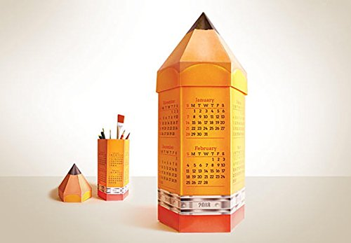 2018 Pencil Calendar & Box | Paper Desk Calender Papercraft | School Kid Children 3D Craft from DaisySto