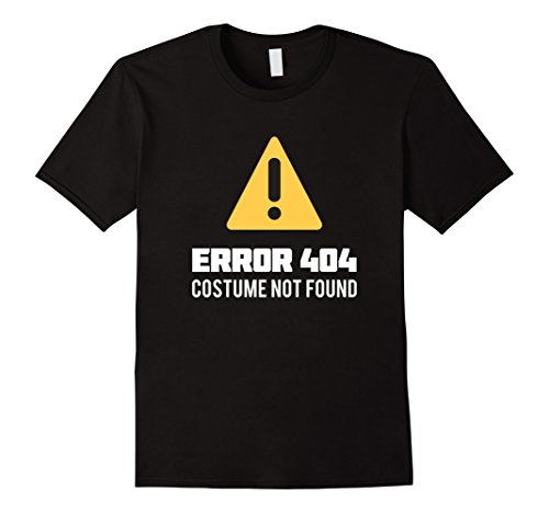 Geek Costumes For Halloween (Mens Funny Halloween Geek Costume Error 404 Costume Not Found Tee Medium Black)