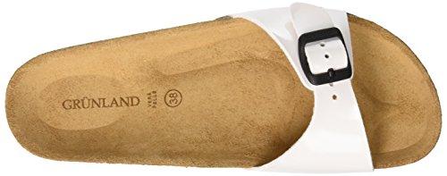 de Bianco Plage Chaussures Grunland Blanc Femme Sara et Piscine Bianco wzZ1WEf1q