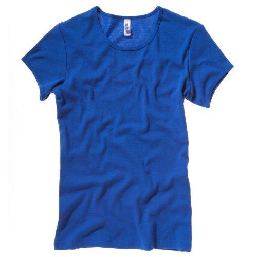 Baby rib short sleeve crew neck T-shirt COLOUR True Royal SIZE XL