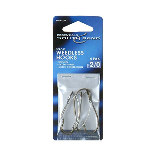 SouthBend Sproat Weedless 449W2 Hook Size 2 Pack of 4