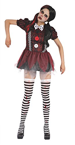 Bristol Novelty AF036 Creepy Doll Dress, UK Size 10-14