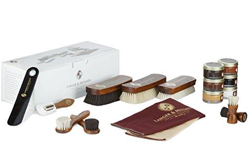 Langer & Messmer set de 17 pièces pour l´entretien e le soin professionnel de vos chaussures contenant crèmes de cirage… 2