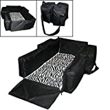 Black Convertible Crib with Changing Table Nap-Sac 3 in 1 by Lilly Gold deluxe diaper bag, changing-table, comfy bassinet