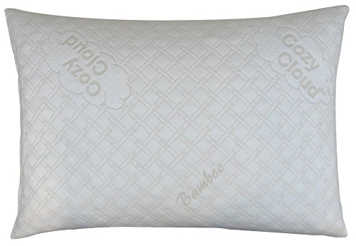 CozyCloud Deluxe Hypoallergenic Bamboo Shredded Memory Foam Pillow - Queen Size Firmer Design