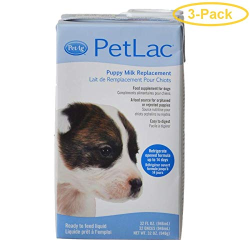 PetAg PetLac Puppy Milk Replacement - Liquid 32 oz - Pack of 3 by PetAg