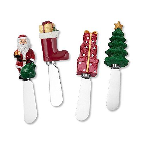 Wine Things Christmas Resin Cheese Spreaders Set of ()