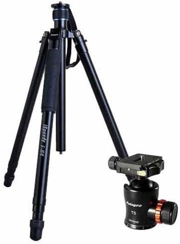 FotoPro F-64 iSpeedy Aluminum Quick Extend Tripod Folds to 20 Holds 33 Lbs Extends to 5.4